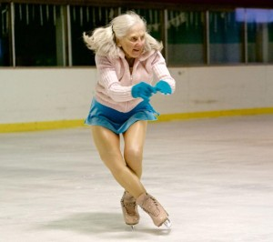 89-year-old Yvonne Dowlen, who has been skating for 75 years, continues to compete.